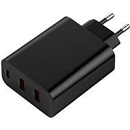 Baseus PPS Three Output Quick Charger (USB-C + USB + USB) 60W fekete - Hálózati adapter