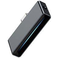 Baseus Type-C (M) to USB-C & 3.5mm Jack (F) Adapter L57 Black - Átalakító