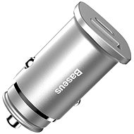 Baseus Square fém USB-C + USB-A 30W PPS autós töltő (PD3.0 / QC4.0) ezüst - Autós töltő