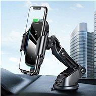 Baseus Light Electric Car Holder Wireless Charger 15W - fekete - Vezeték nélküli töltő