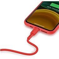 Baseus Colourful Lightning Cable 2.4A 1.2m Red - Adatkábel