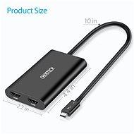 ChoeTech Thunderbolt 3 Type-C to Dual HDMI Adapter Black - Átalakító