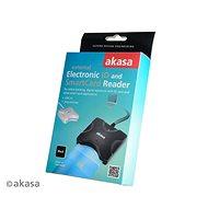 AKASA Smart kártyaolvasó (e-személyi) - fehér / AK-CR-03WHV2 - Elektronikus személyi igazolvány olvasó