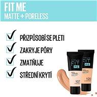 MAYBELLINE NEW YORK Fit Me! Matte & Poreless Foundation 102 Fair Ivory 30 ml - Alapozó