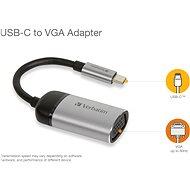 VERBATIM USB-C TO VGA ADAPTER - USB 3.1 GEN 1/ VGA, 10 cm - Átalakító