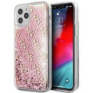 Guess 4G Liquid Glitter - Apple iPhone 12 Pro Max, Pink - Telefon hátlap
