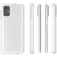 Hishell TPU a Samsung Galaxy M51 készülékhez, átlátszó - Telefon hátlap