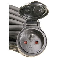 Emos hosszabbító kábel 30m 3x1.5mm, fekete gumi - Hosszabbító kábel