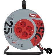 EMOS PVC Kábel dobon kapcsolóval - 4 aljzat, 25 m, 1,5 mm2 - Hosszabbító kábel