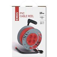 EMOS PVC Hosszabbító kábel dobon - 4 aljzat, 15 m, 1 mm2 - Hosszabbító kábel