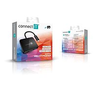 CONNECT IT CHU-7050-BK USB-C hub 3v1 (USB-C, USB-A, HDMI), black - Port replikátor