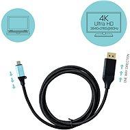 I-TEC USB-C DisplayPort video adapter 4K / 60Hz 200 cm-es kábellel - Átalakító