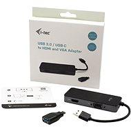 I-TEC USB 3.0 / USB-C Dual HDMI + VGA videoadapter - Port replikátor