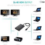 I-TEC USB-C - kettős HDMI - Átalakító