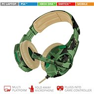 Trust GXT 310C Radius Gaming Headset, terepmintás - Gamer fejhallgató