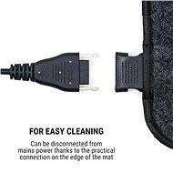 OneConcept Magic Carpet DLX 60 x 70 antracit - Ágymelegítő