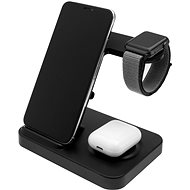 FIXED Powerstation 3 eszközhöz fekete - Vezeték nélküli töltő