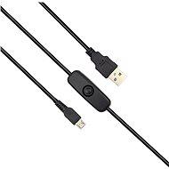 RASPBERRY USB-A / USB-B tápkábel kapcsolóval - Tápkábel