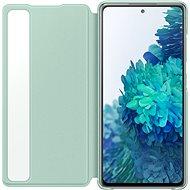 Samsung Galaxy S20 FE Flip tok Clear View mentol zöld - Mobiltelefon tok