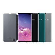 Samsung Galaxy S10+ Clear View Cover, fehér - Mobiltelefon tok