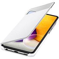 Samsung S View - Galaxy A72 fehér flip tok - Mobiltelefon tok