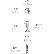 Simplehuman kozmetikai tükör, Sensor Tru-lux LED világítás, 10x zoom, újratölthető - Sminktükör