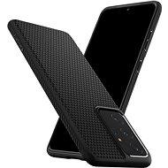 Spigen Liquid Air Black Samsung Galaxy S21 Ultra - Telefon hátlap