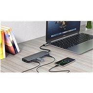 Swissten USB-C HUB 8-IN-1 (USB-C PD, HDMI 4K, LAN RJ45, 3x USB 3.0, SD, MICRO SD) Aluminium - USB Hub