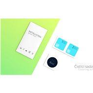 Tempered Glass Protector keretes Asus Zenfone 8. készülékre fekete + kamera üveg - Üvegfólia