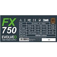 EVOLVEO FX 750 80Plus Bronze - PC tápegység