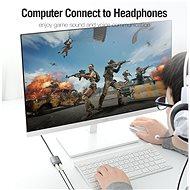 Vention USB External Sound Card 0.15M Gray Metal Type (OMTP-CTIA) - Külső hangkártya