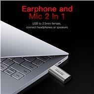 Vention USB External Sound Card Gray Aluminium Type (OMTP-CTIA) - Külső hangkártya