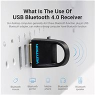 Vention USB to Bluetooth 4.0 Adapter - fekete - Bluetooth adapter