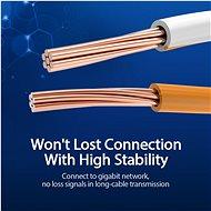 Vention Cat.6 UTP Patch Cable 40m Black - Hálózati kábel