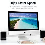 Vention Flat CAT6 UTP Patch Cord Cable 15m Black - Hálózati kábel