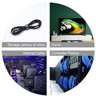Vention Cable Tie Velcro 5m - fekete - Kábelrendező