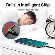 Vention Type-C (USB-C) 2.0 (M) to USB-C (M) 100W / 5A Cable 0.5M Gray Aluminum Alloy Type - Adatkábel