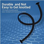 Vention Lightning MFi to USB-C Braided Cable (C94) 1M Gray Aluminum Alloy Type - Adatkábel