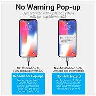 Vention Lightning MFi to USB-C Braided Cable (C94) 1.5M Gray Aluminum Alloy Type - Adatkábel