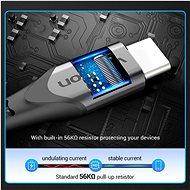 Vention Type-C (USB-C) <-> USB 2.0 Cable 3A Gray 0,25m Aluminum Alloy Type - Adatkábel