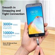 Vention Luxury USB 2.0 -> microUSB Cable 3A Gray 0,5m Aluminum Alloy Type - Adatkábel