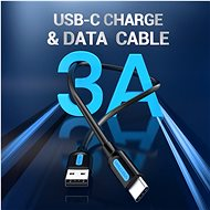 Vention Type-C (USB-C) <-> USB 2.0 Charge & Data Cable 1.5m fekete - Adatkábel