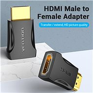 Vention HDMI Male to Female Adapter 2 Pack, fekete - Átalakító