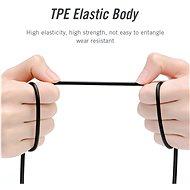m Male to 2 x 3.5 mm Female Stereo Splitter Cable 0.3 M Black Metal Type - Átalakító