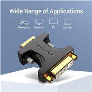 Vention VGA (M) to DVI (F) Adapter Black - Átalakító
