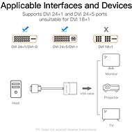 Vention DVI to VGA Converter 0.15M Black Metal Type - Átalakító
