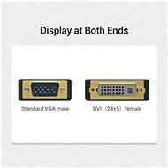 Vention DVI Female to VGA Male Adapter - fekete - Átalakító