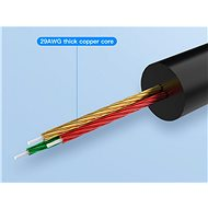 Vention 3,5mm Jack Male to 2x RCA Male Audio Cable 3m Black Metal Type - Audio kábel