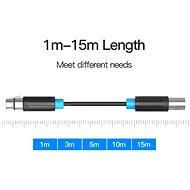 Vention XLR Audio Extension Cable 3m - fekete - Audio kábel