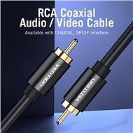 Vention 1x RCA Male to 1x RCA Male Cable 1m - fekete - Audio kábel